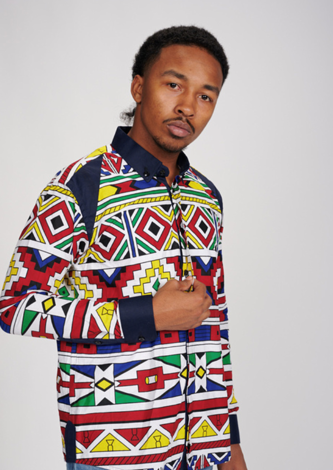 Seun Men's African Print Shirt