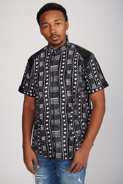 Demola Men's African Print Shirt