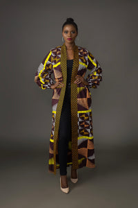 Lamina African Print Duster