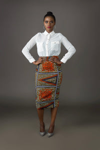 Tuille Pencil Skirt