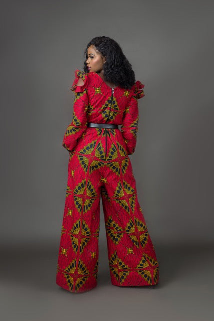 Jelo African Print Jumpsuit