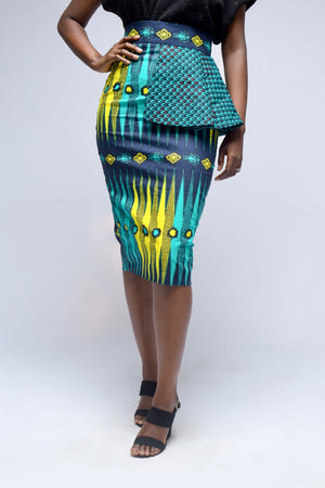 Tumi African Print Pencil Skirt
