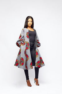 Eniola African Print Jacket Dress