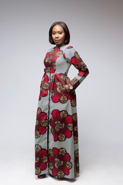 Dodo African Print Jacket Dress