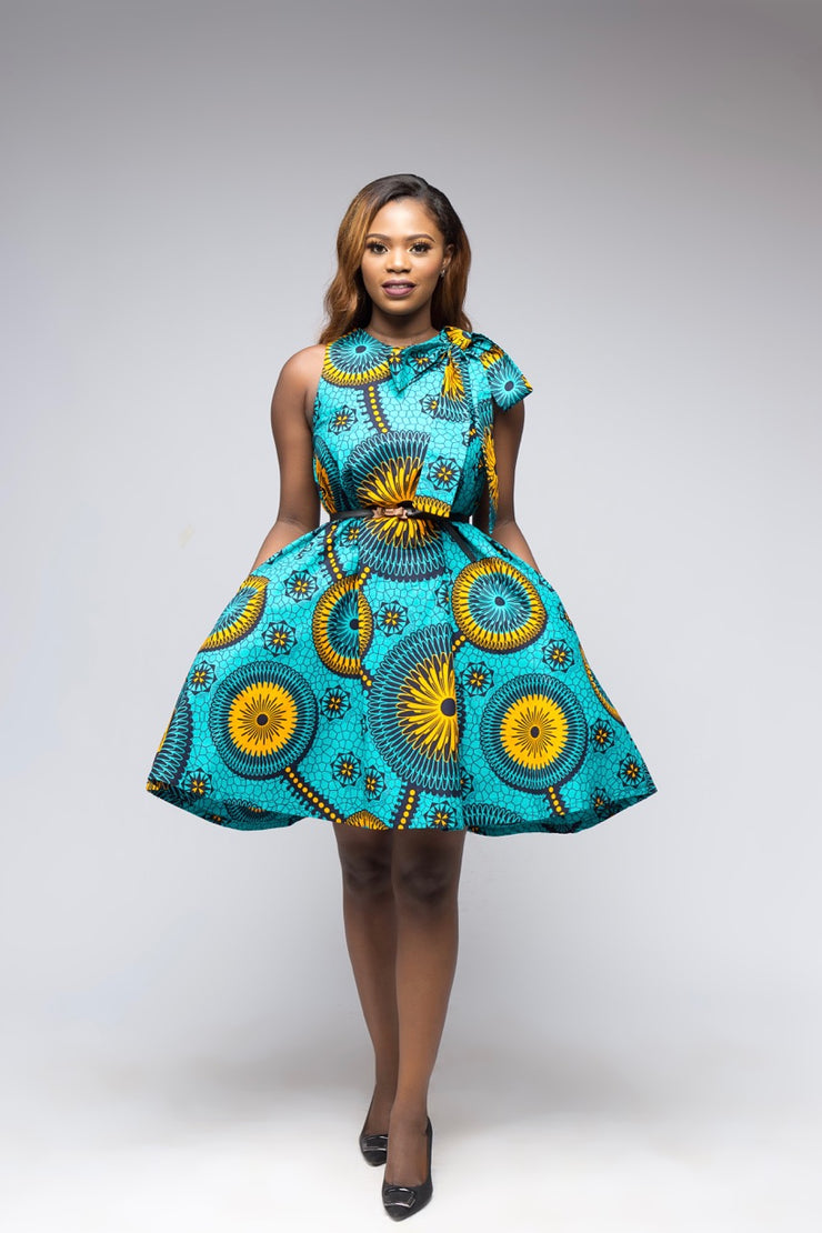 Chibi African Print Dress