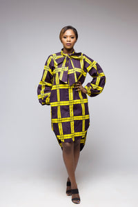Tomiwa African Print Shirt Dress