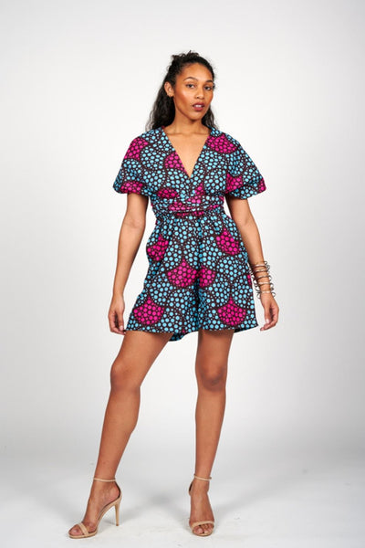 Iyanu African Print Infinity Style Playsuit