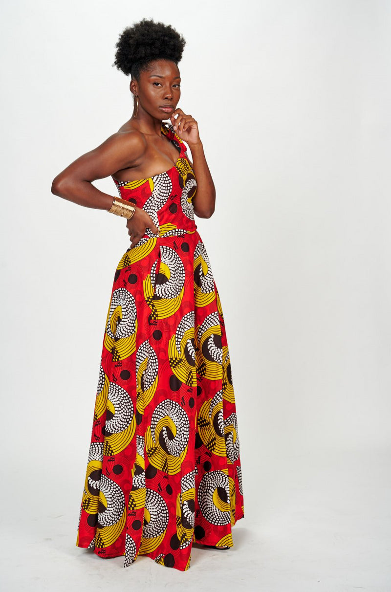 Lanumi African print Dress