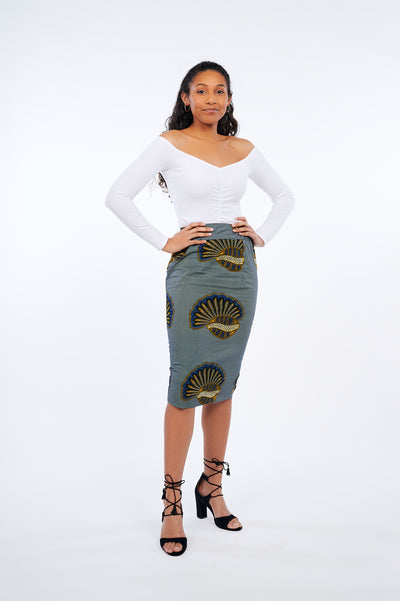 Adesuwa African Print Pencil Skirt