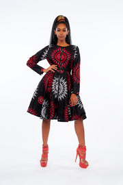 Adebimpe African Print Jacket Dress