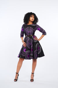 Monifa African Print Jacket Dress