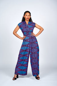 Idunnu African Print Infinity Style Palazzo Jumpsuit