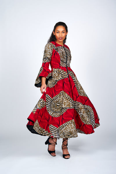 Oyinda African Print Jacket Dress