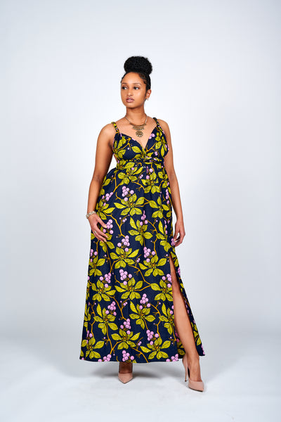 Titi African Print Infinity Style Maxi Dress