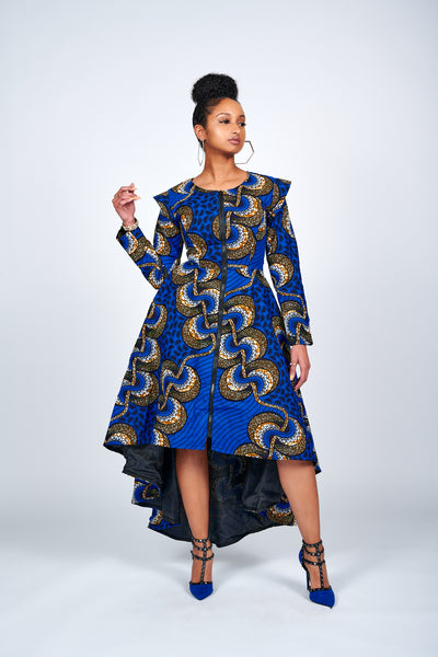 Folu African Print Jacket Dress