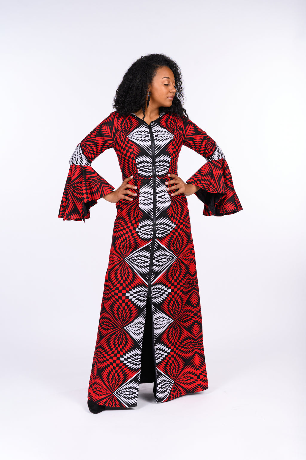 Abisola African Print Jacket Dress