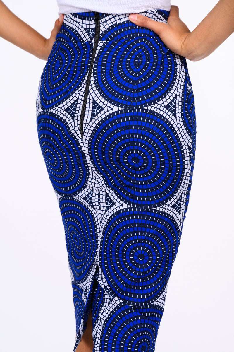 Mobolaji African Print Pencil Skirt
