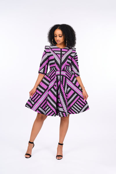 Oluwatomi African Print Jacket Dress