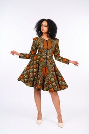 Adura African Print Jacket Dress
