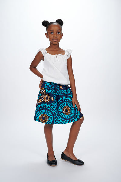 Ajasa African Print Skirts For Kids