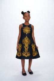 Adebola African Embroidered Kids Dress