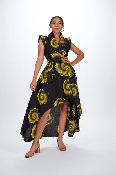 Tiara African Print Wrap Dress