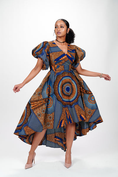 Enitola African Print Dress