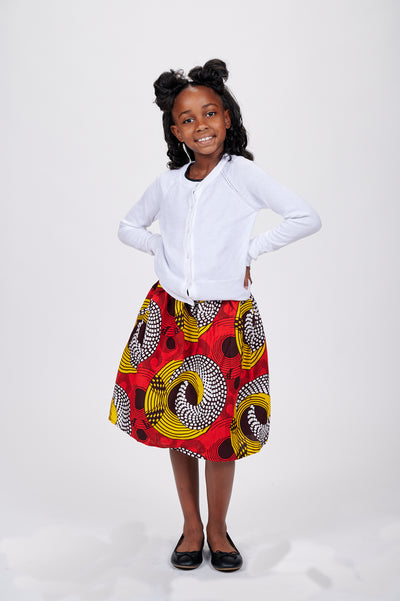 Lanumi African Print Skirts For Kids