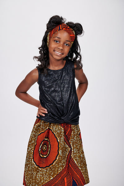 Tutu African Print Skirts For Kids