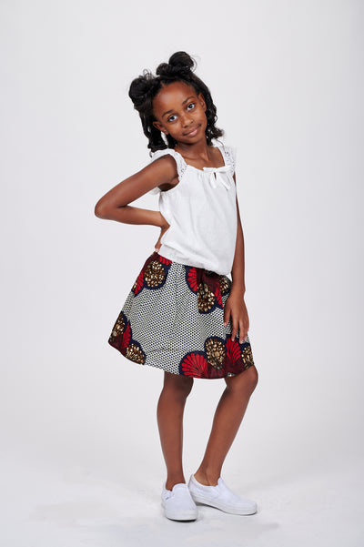 Dodo African Print Skirts For Kids