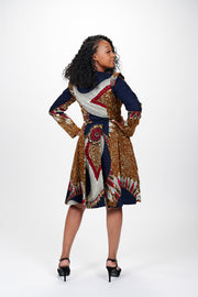 Amare African Print Jacket Dress