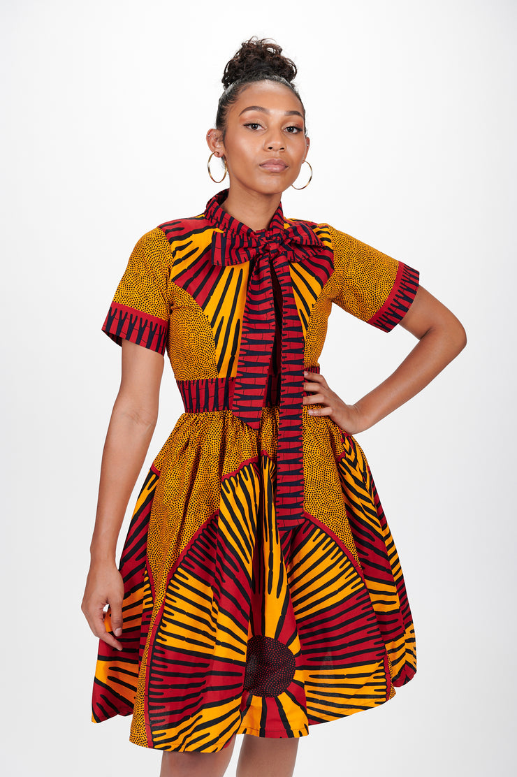 Isabis African Print Dress