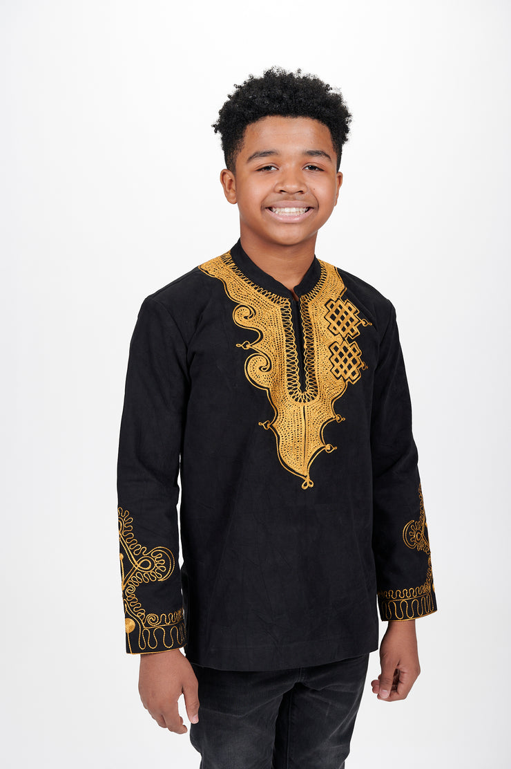 Toye Bishop Collar Kid's African Print Tunic