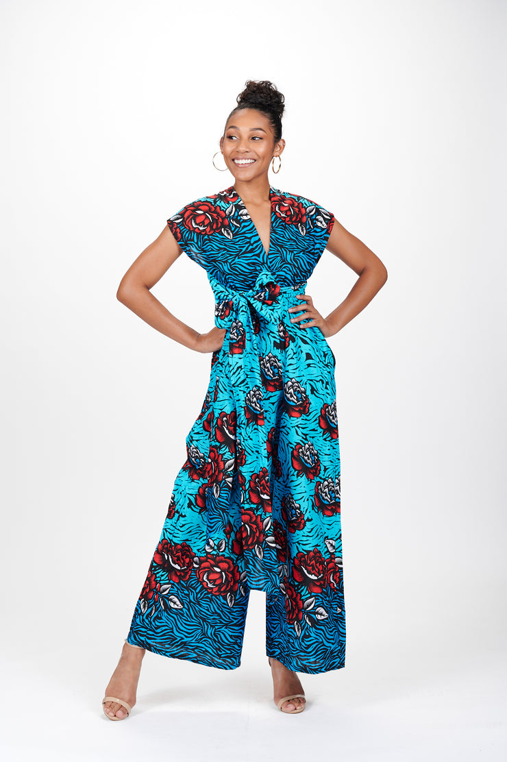 Mandla African Print Infinity Style Palazzo Jumpsuit