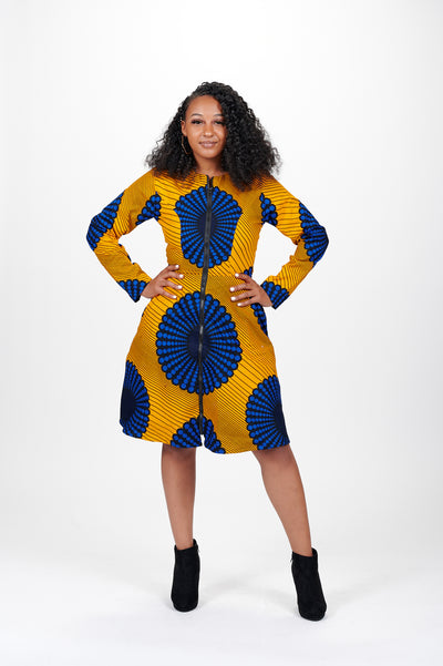 Kerubo African Print Jacket Dress