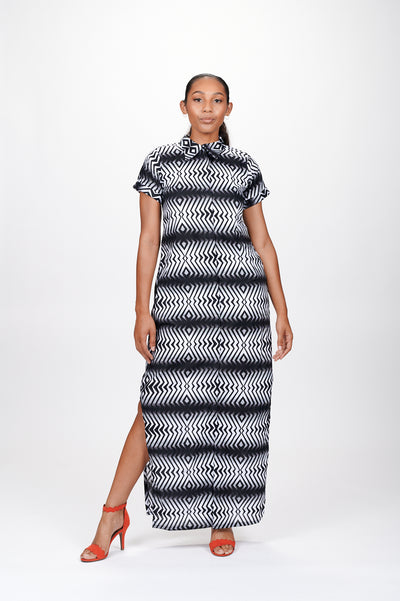 Angavu African Print Shirt Dress