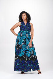 Gasira African Print Infinity Style Maxi Dress