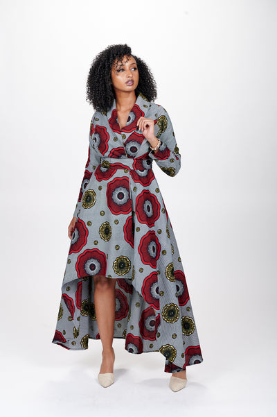 Latifa African Print Wrap Dress