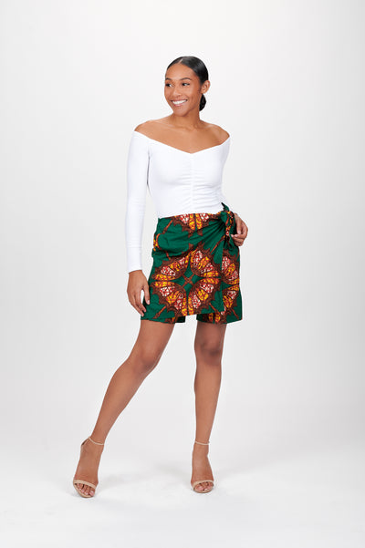 Assitou African Print Shorts