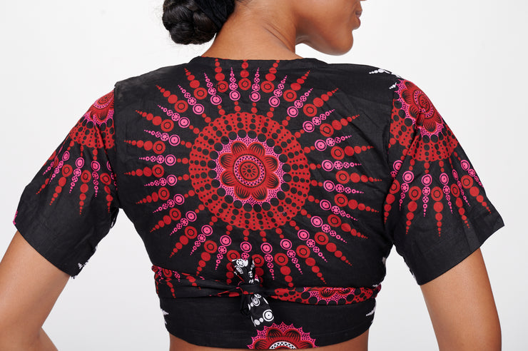 Adebimpe African print Wrap Cropped Top