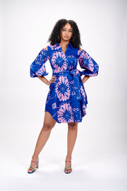 Angela African Print Shirt Dress