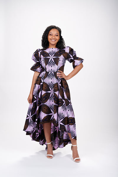 Esther African Print Dress