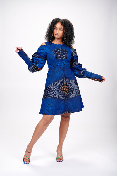 Rose African Print Jacket Dress