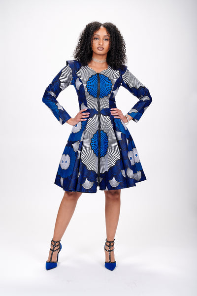 Jhene African Print Jacket Dress