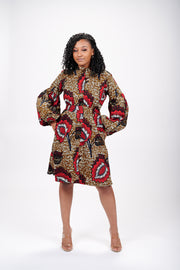 Jennie African Print Jacket Dress