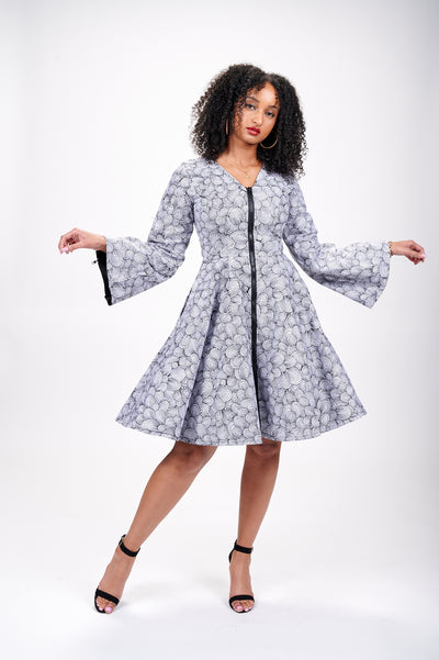 Aisha African Print Jacket Dress