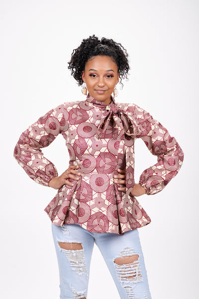 Chioma African Print Shirt