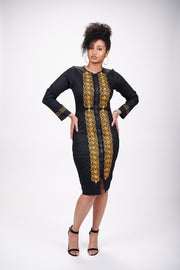 Erica African Embroidered Jacket Dress