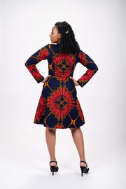 Ada African Print Jacket Dress