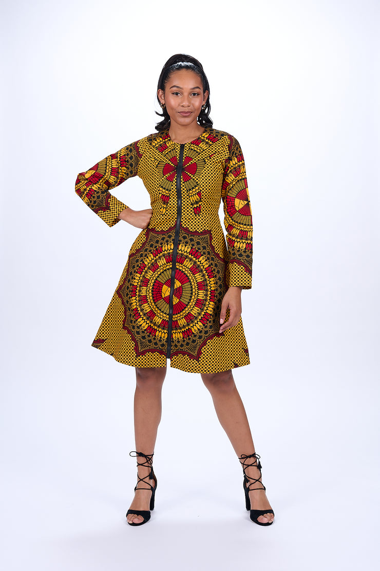 Derin African Print Jacket Dress